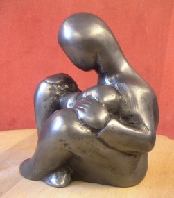 Mother and Child - stylised sculpture