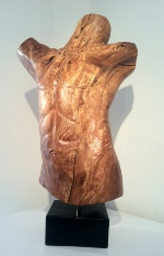 Torso woodcarving in beech